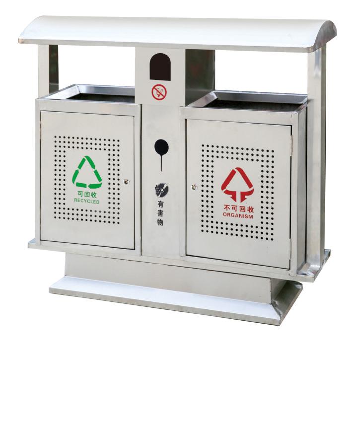 不锈钢垃圾箱CQU-BX-S005