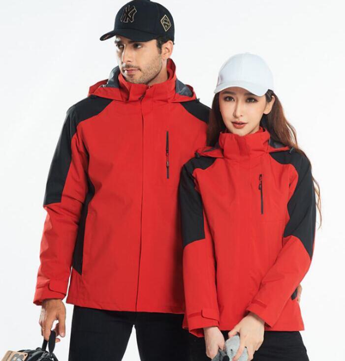 新款男女两件套冲锋衣