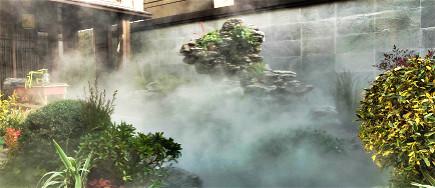 园林假山中的贝斯特全球最奢华网页景观.水景贝斯特全球最奢华网页雾是怎么做出来的