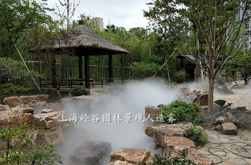 园林假山景观造雾