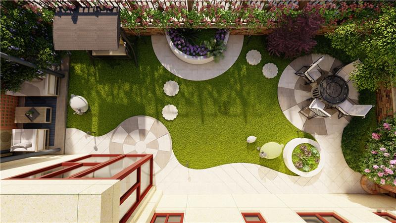 山东大景园林高青碧桂园翡翠城庭院设计施工案例