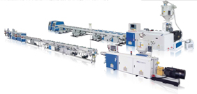 小口徑PE/PPR/PE-RT/PA單管、雙管高速擠出生產線