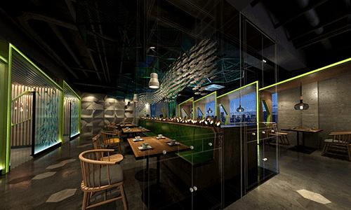 1200平餐饮店装修设计