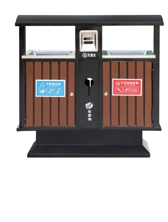 钢木垃圾桶CQU-GM-S001A