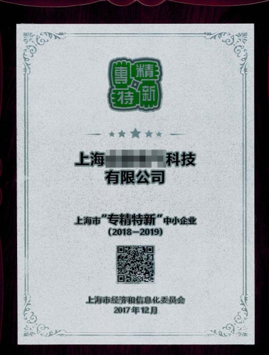 上海市专精特新中小企业