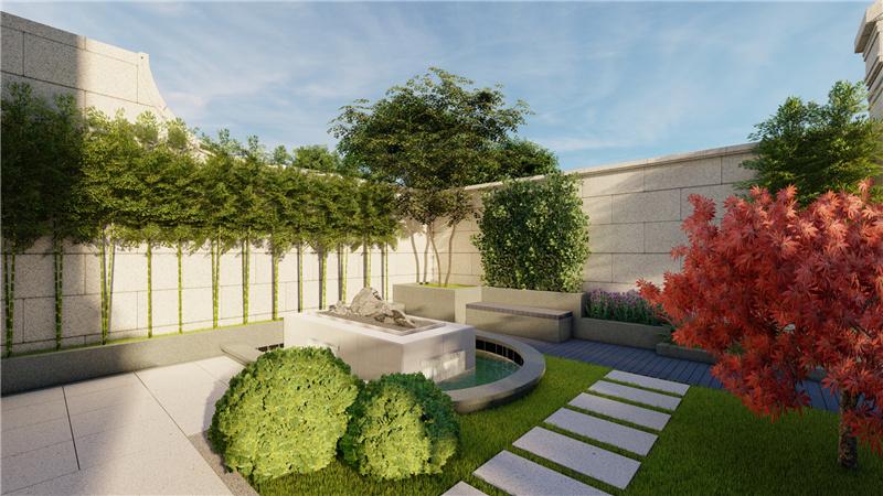 绿城百合花园庭院案例设计图