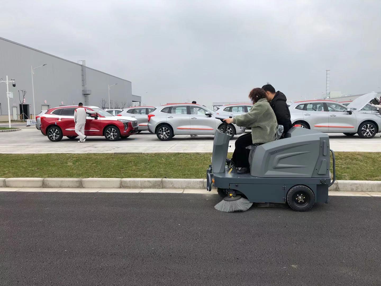 长城汽车厂使用驾驶式扫地车使用案例