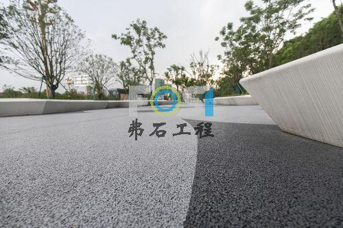 宁波奉化人行道透水混凝土工程