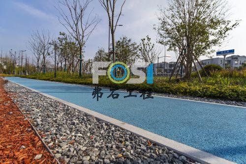上海青浦博览会公园透水混凝土工程