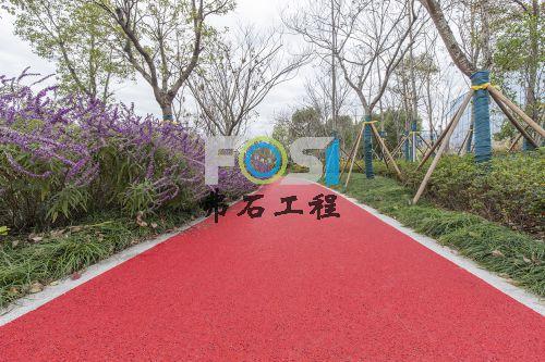 上海张江海豚湾红色透水混凝土工程