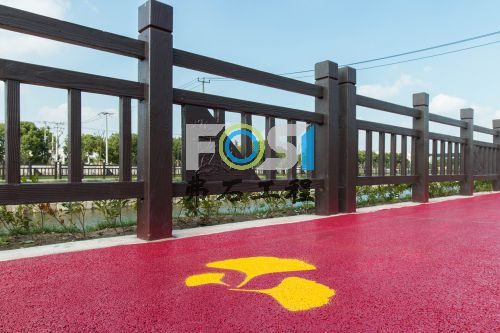 上海七宝红色透水混凝土工程