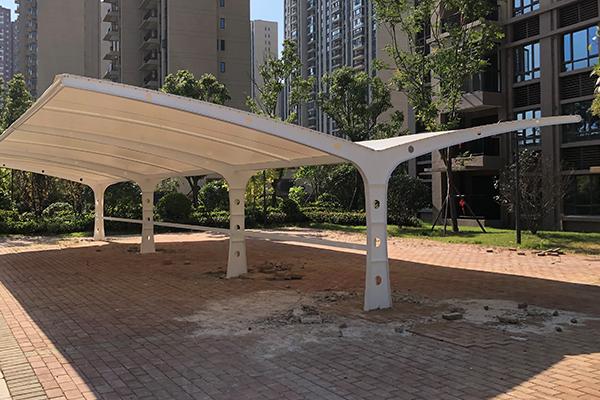 停车棚膜结构案例