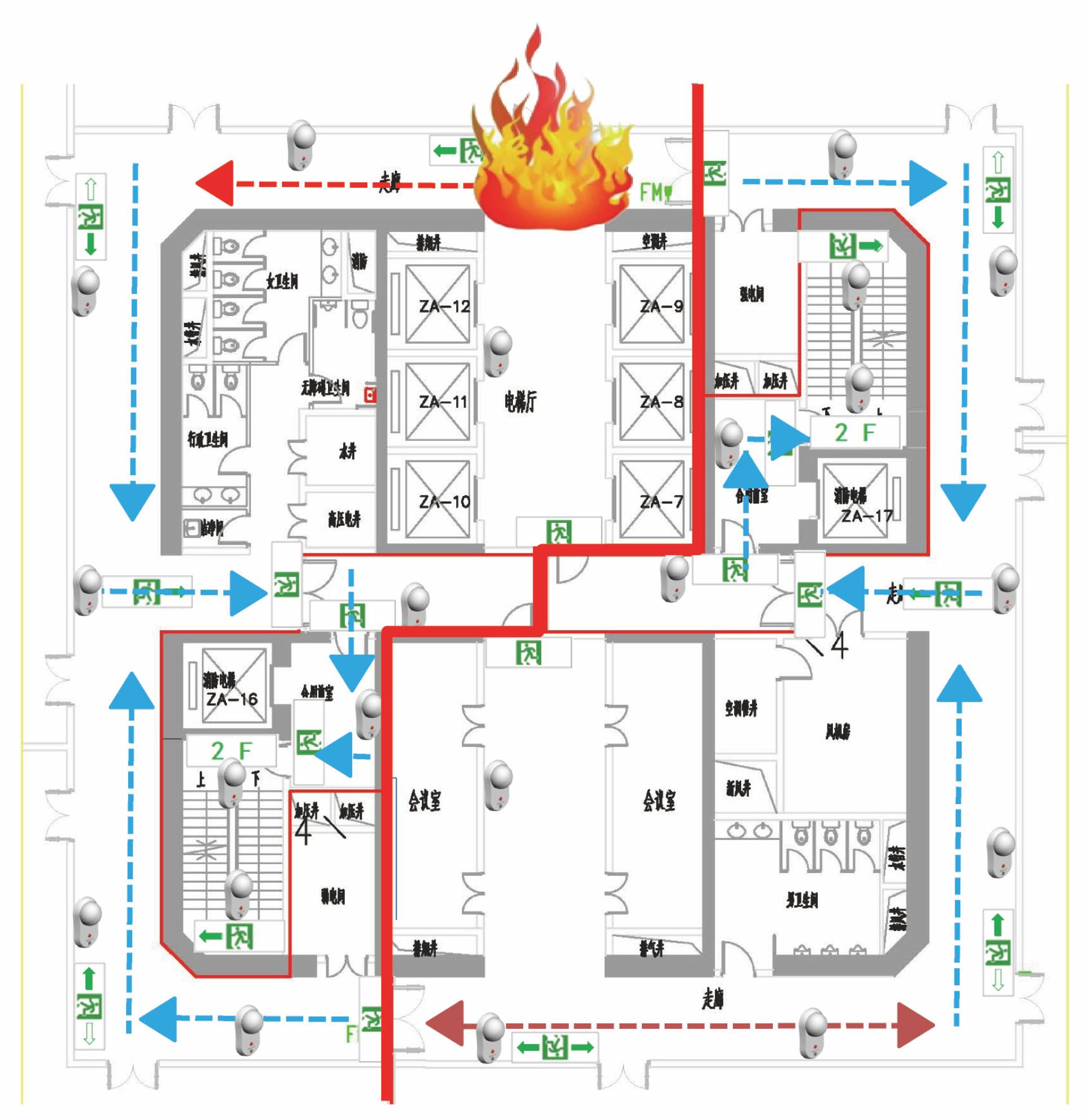 宏威智慧 广东消防应急灯照明灯标志灯疏散指示系统解决方案2.jpg