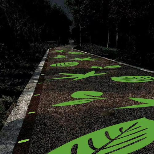 荧光石路面材料