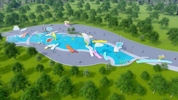 滨水广场戏水区