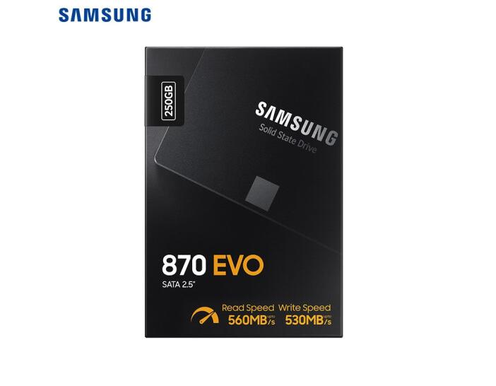 三星(SAMSUNG)250GB SSD固態硬盤 SATA3.0接口 870 EVO(MZ-77E250B)