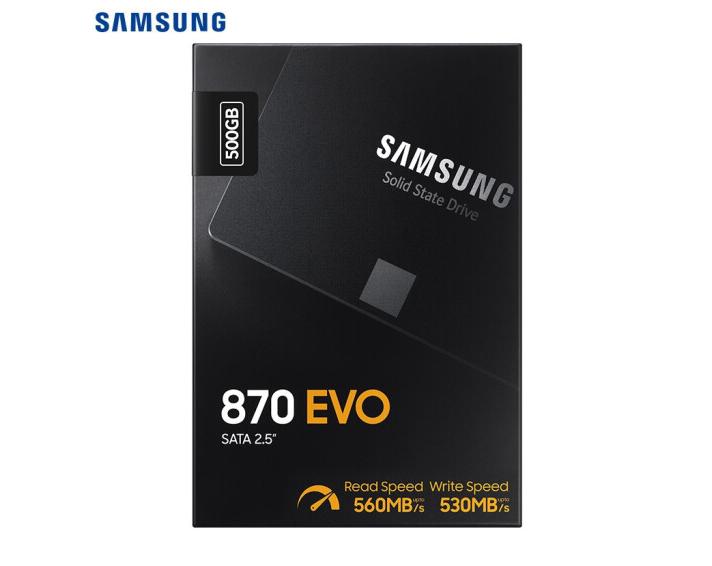 三星(SAMSUNG)500GB SSD固態硬盤 SATA3.0接口 870 EVO(MZ-77E500B)