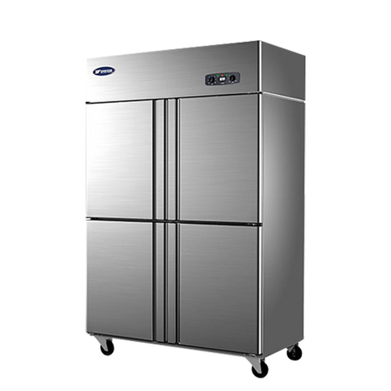 银都四门直冷冰箱