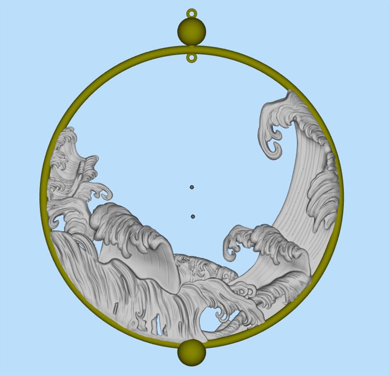 立体浮雕波浪圆形挂环模型2.jpg