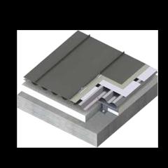 金属屋面矮立边钛锌板系统