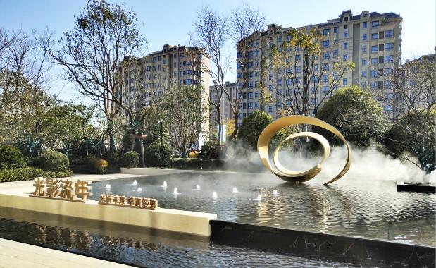 上海青浦售楼部水景造雾.贝斯特全球最奢华网页雾森案例