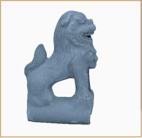 青瓦脊饰·狮子