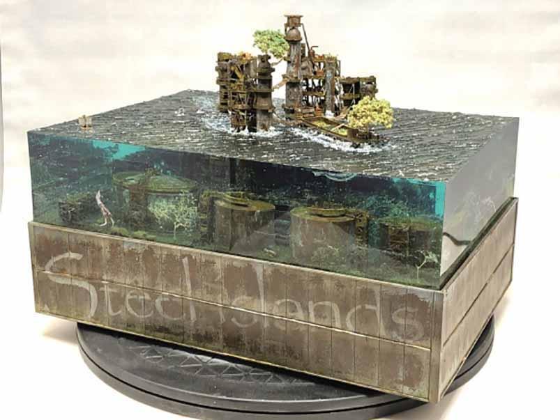 国外大神3D打印废弃沉没都市,超高还原度令人惊叹|杭州博型3D打印创意设计