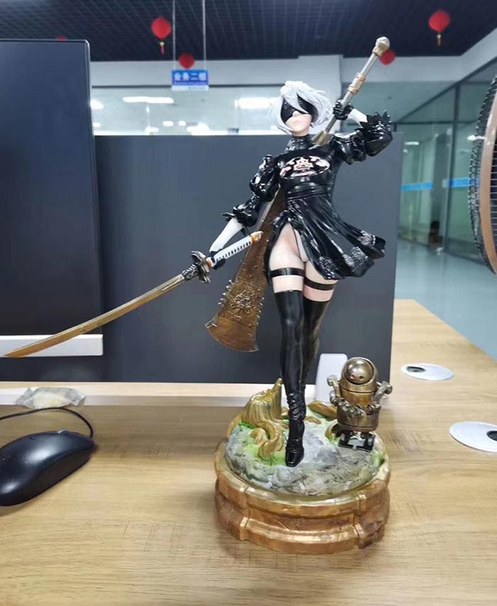 杭州3D打印美女战士手办模型.jpg