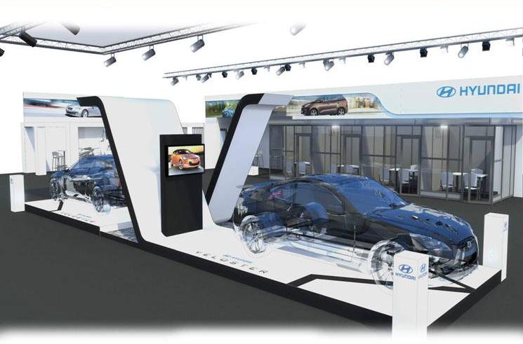 巴黎汽车展台设计搭建