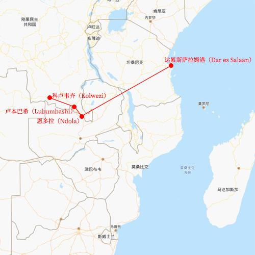 坦桑尼亚到刚果金物流路线