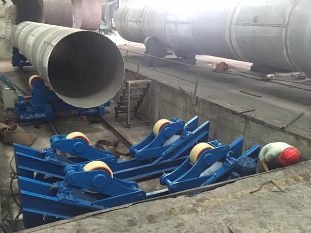 液压组对滚轮架