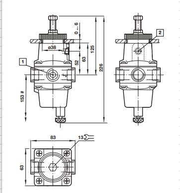 Norgren电磁阀B52G, B54G系列