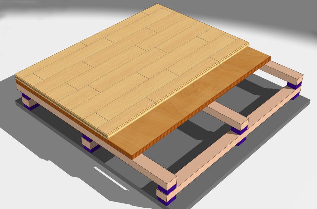 运动木地板结构