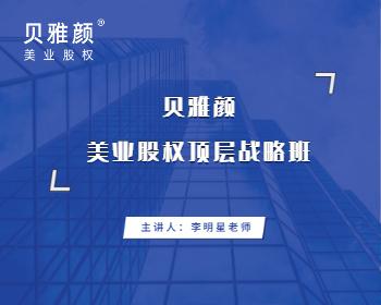 贝雅颜美业股权顶层战略班