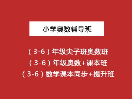 小学奥数辅导班(3-6)