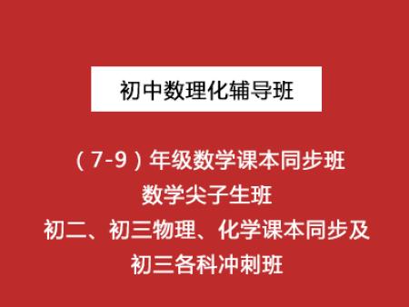 初中数理化辅导(7-9)