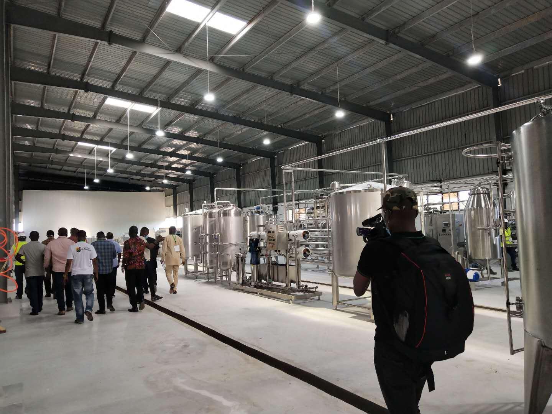 乌干达农业部前来验收芒果原浆加工生产线