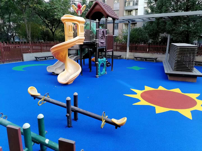 苏州昆山儿童乐园EPDM塑胶地坪