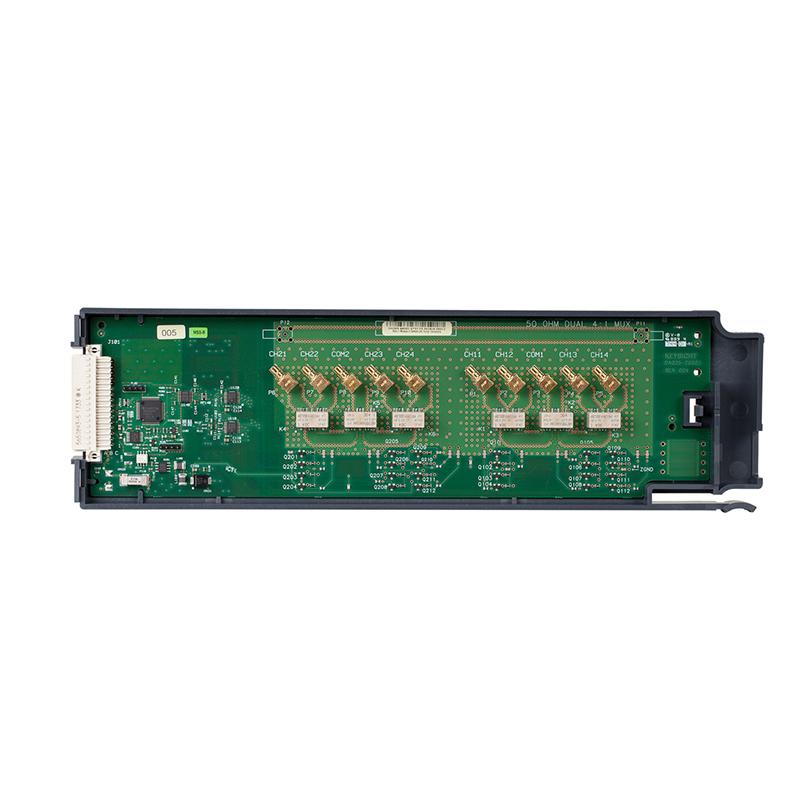 是德科技 DAQM905A 用于 DAQ970A 的 2 GHz 双路 1:4 射频多路复用器 50 Ω 模块