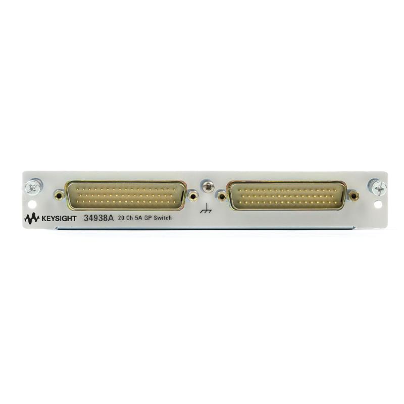 是德科技 34938A 适用于 34980A 的 20 通道 5A A 型开关