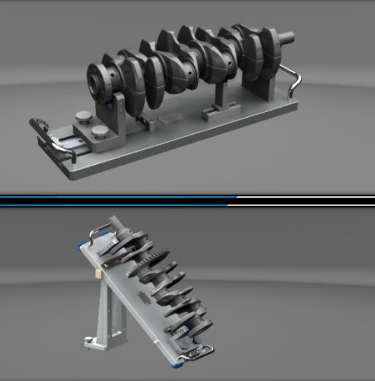 曲軸水平傾斜檢測夾具