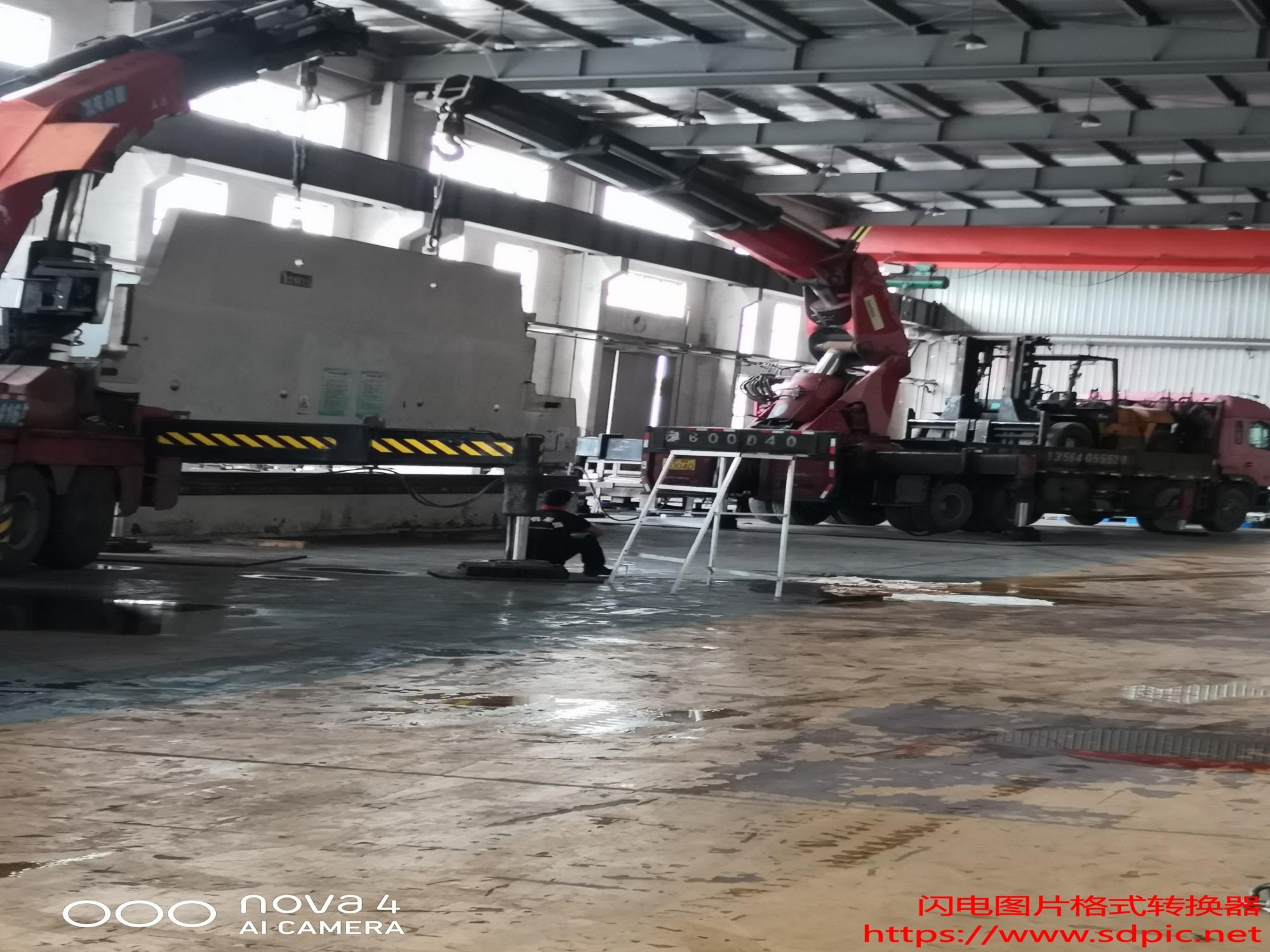 1600T折弯机吊装组装