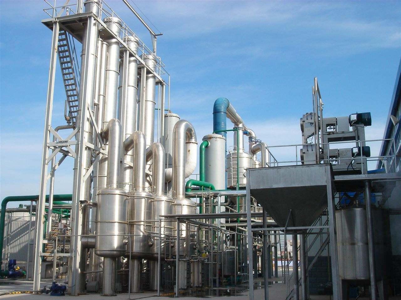 绿禾盛制药废水处理项目MVR蒸发结晶安装现场