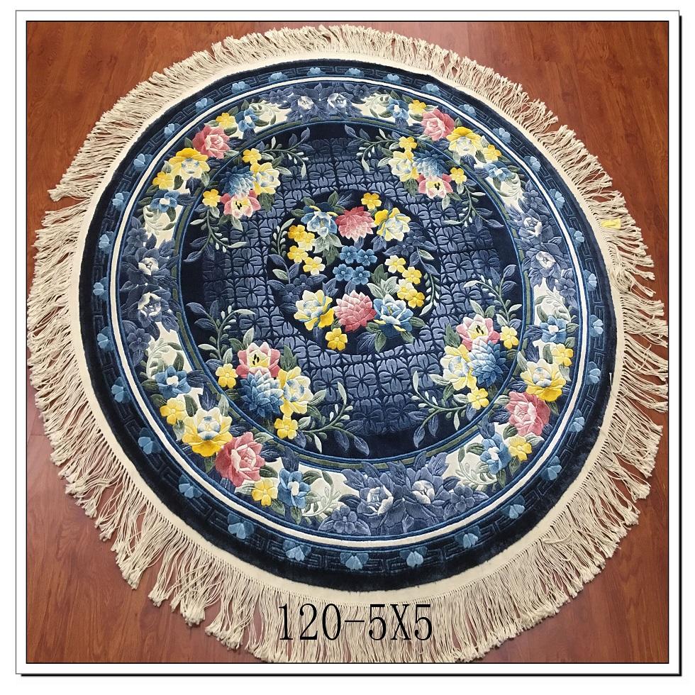 真丝圆毯120道x12001