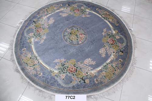 真丝圆毯120道x12012