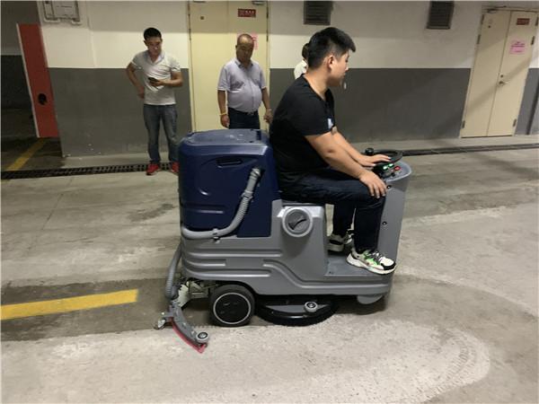 无锡某佳物业管理有限公司——驾驶式洗地机案例
