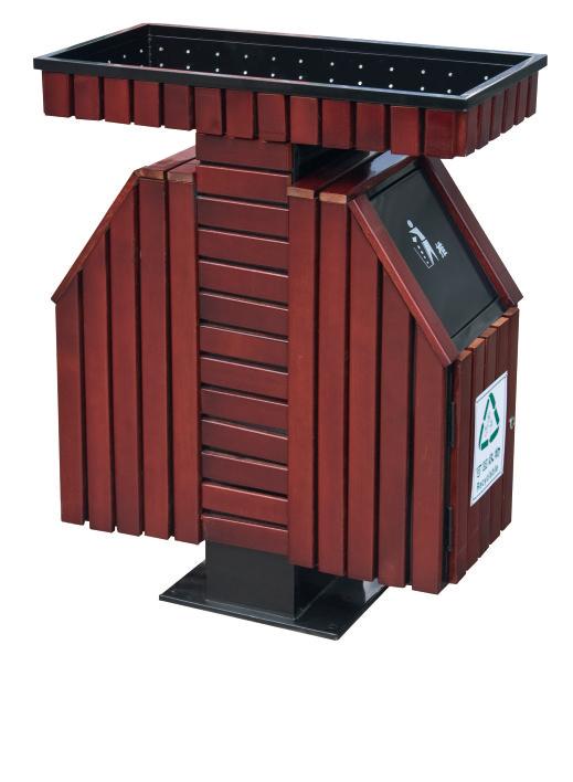 钢木垃圾桶CQU-GM-S043