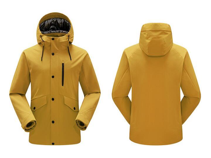 2020冬季新款冲锋衣 抓绒加厚两件套冲锋衣 男女同款可定制LOGO 防风防水透气冲锋衣