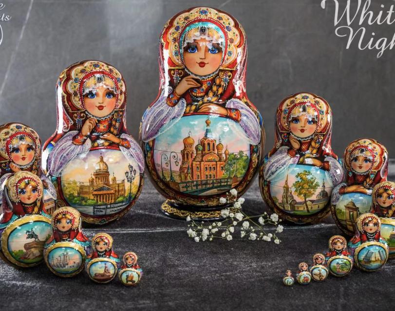 俄罗斯进口套娃(木制)