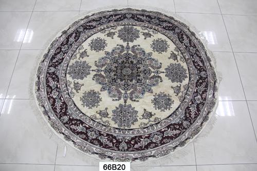 真丝圆毯300道x30010